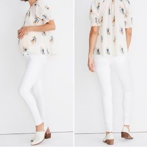 Madewell Maternity Side-Panel Skinny Jeans White